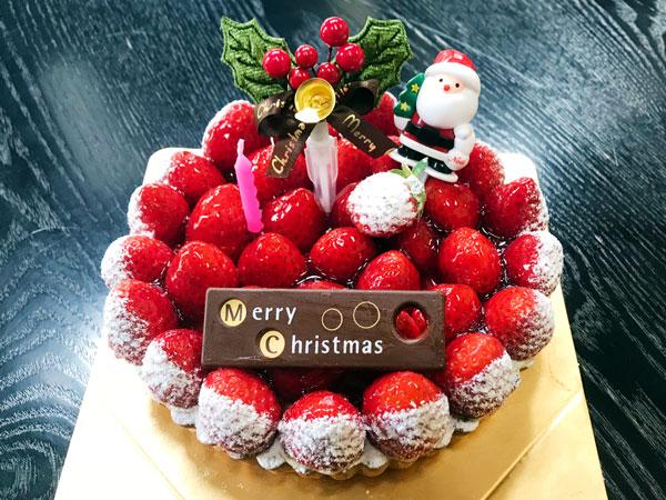 クリスマスいちごのタルト