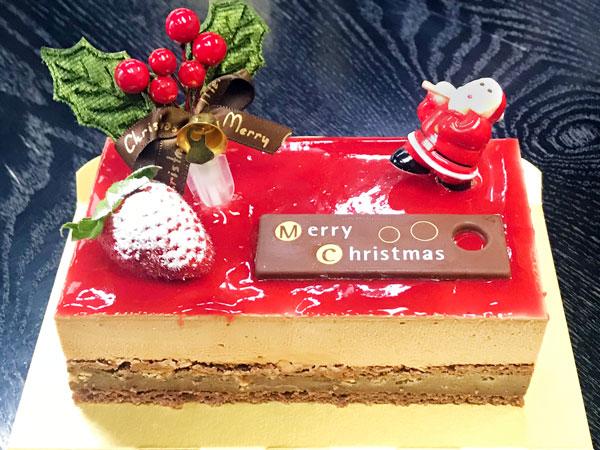 クリスマスショコラフランボワーズ(ホールケーキ)