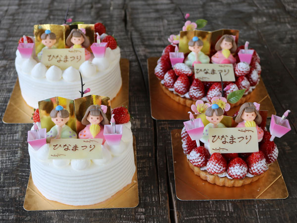 ひな祭りケーキ2種
